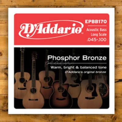 D'addario EPBB170 SET ACOUSTIC BASS PB 45-100