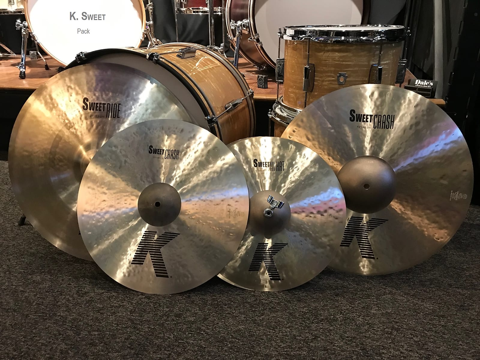 "Zildjian cymbals K. Sweet Pack w/ 15"" hats, 17"" and 19"" crash, 21"" Sweet Ride KS5791"