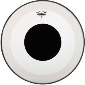 """Remo Powerstroke P3 Clear Top Black Dot Bass Drum Head 24"""""""