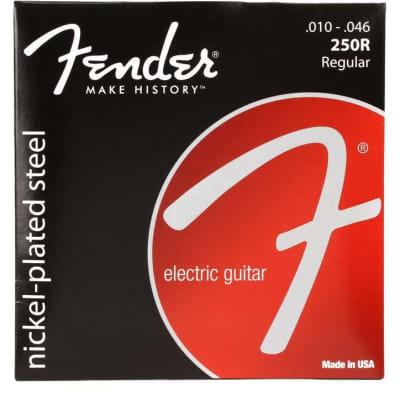 6-PACK! Fender 250R Nickel-Plated Steel Guitar Strings .010-.046 250R Reg-Ships FREE Lower 48 States