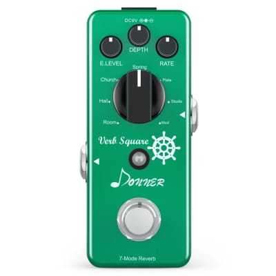 Donner Verb Square Digital Reverb 7 Modes True Bypass Free Shipping