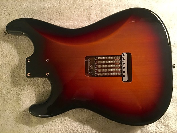 John Mayer Fender Stratocaster Body with Trem and Bridge- (3 Tone Sunburst)  Shielded