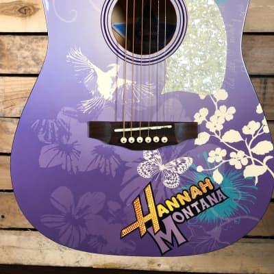 Disney Hannah Montana Acoustic Guitar with nice case by Washburn for sale