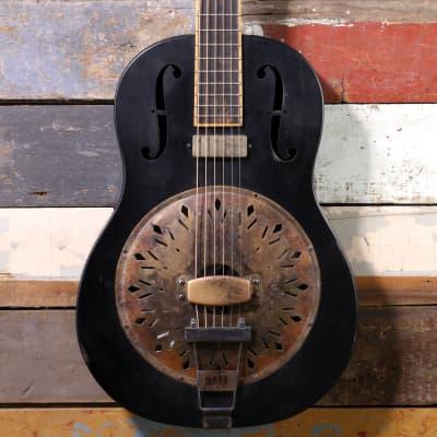 Mule Resophonic Tri-Cone Black for sale