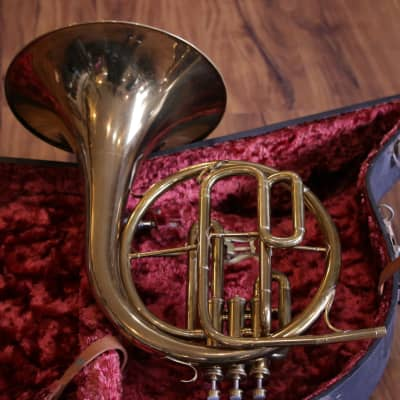 ELKHART Eb/F Mellophone Alto Horn 1920's? Silver | Reverb