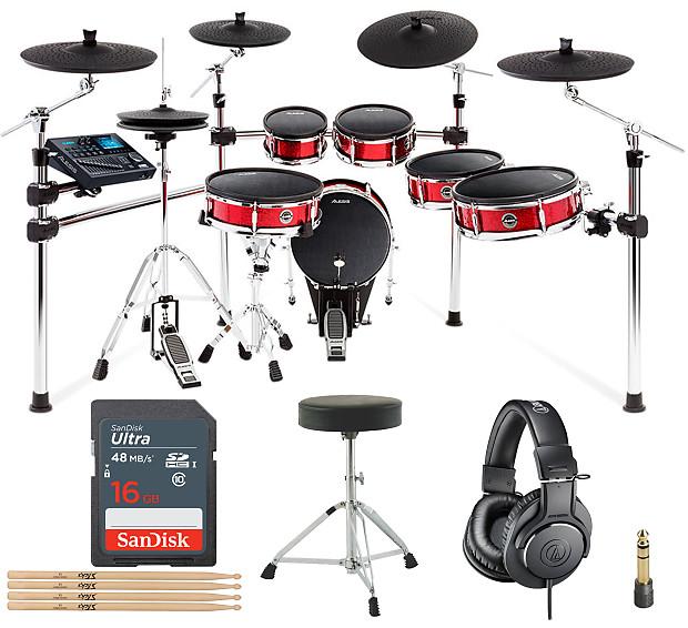 alesis strike pro kit 11 piece professional electronic drum reverb. Black Bedroom Furniture Sets. Home Design Ideas