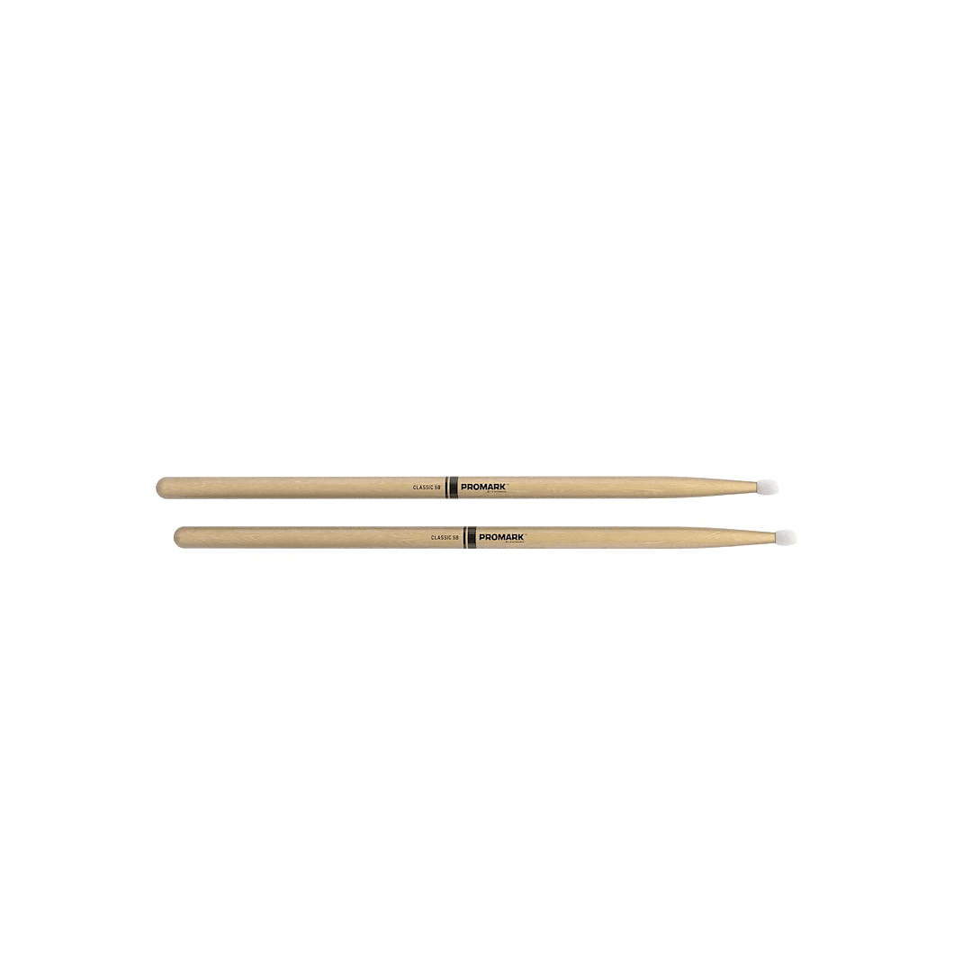 Promark American Hickory 5B Natural Nylon Drum Sticks