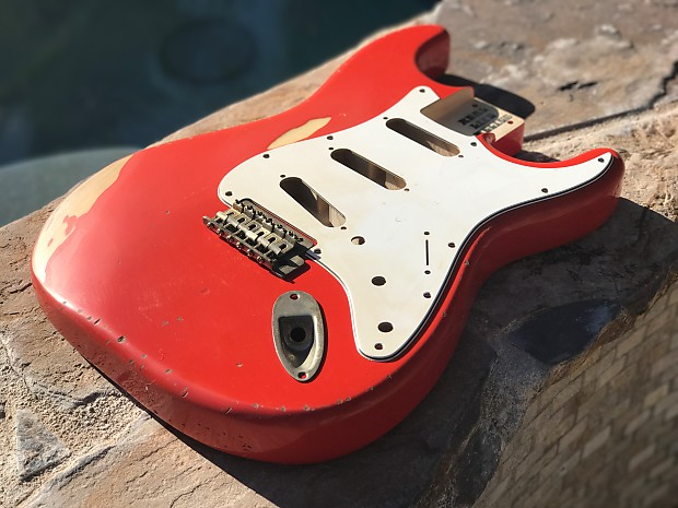 Real Life Relics Strat Stratocaster Body Fiesta Red Relic