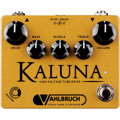 Vahlbruch Kaluna High Voltage Tube Drive Guitar Effects Pedal w/ High Gain Mod