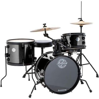Ludwig Questlove Pocket Kit 4-piece Complete Drum Set - Black Sparkle