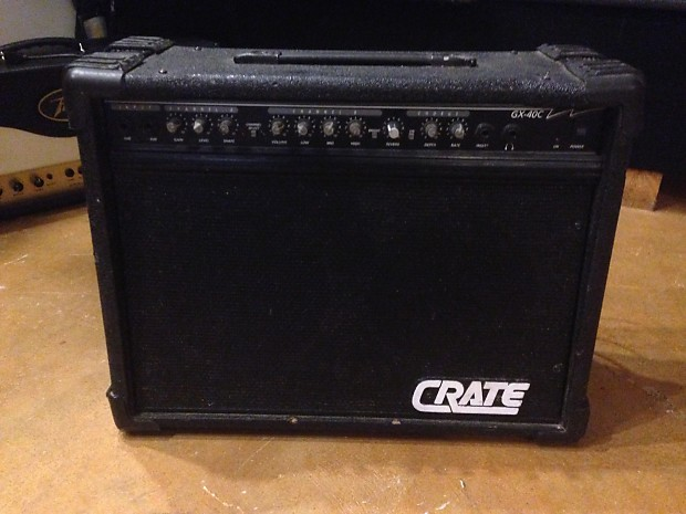crate gx40c 200w electric guitar 2x12 combo amp amplifier w reverb. Black Bedroom Furniture Sets. Home Design Ideas