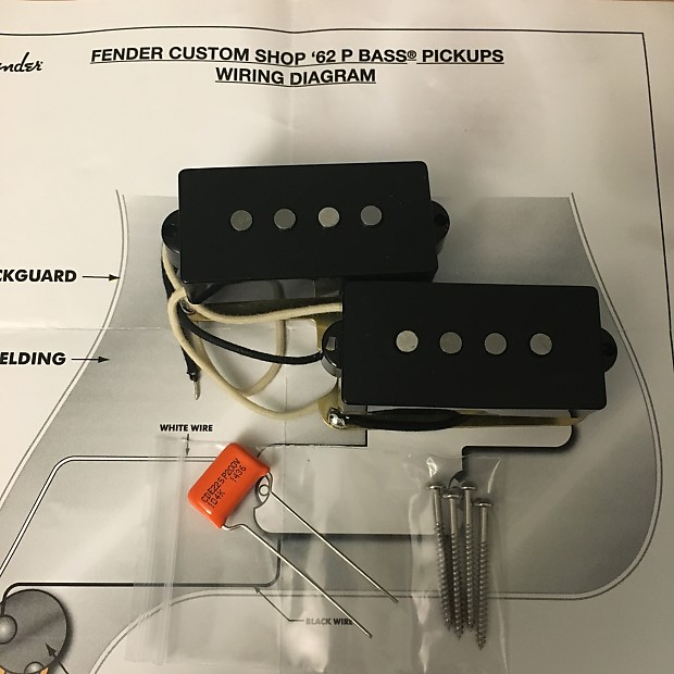 Fender Custom Shop  U0026 39 62 P  Precision Bass Pickups Set W