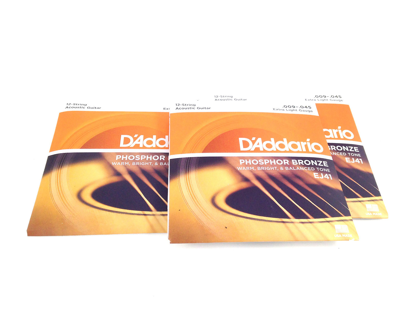 d 39 addario guitar strings 12 string 09 45 phosphor bronze 3 pack. Black Bedroom Furniture Sets. Home Design Ideas