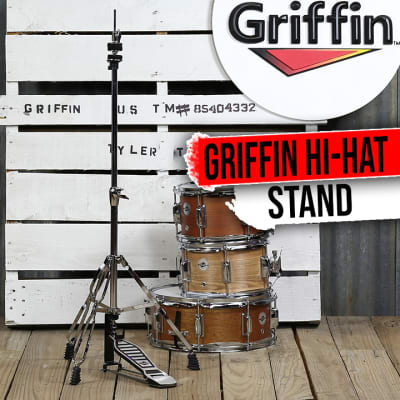 GRIFFIN Hi-Hat Stand | HiHat Cymbal Hardware Drum Pedal Holder Percussion Mount