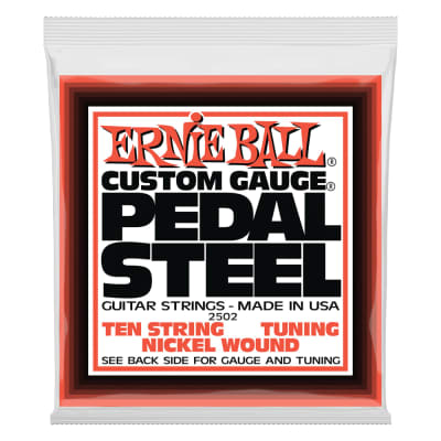 Ernie Ball 2502 Pedal Steel 10-String E9 Tuning Nickel Wound Electric Guitar Strings - 13-38 Gauge