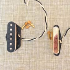 Dawgtown Telecaster Pickup set  Alnico 2 2009 Aged Gold