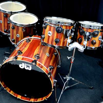 DW 10/12/14/16/22 Collectors Series Exotic Drum Set - Rare Padauk.