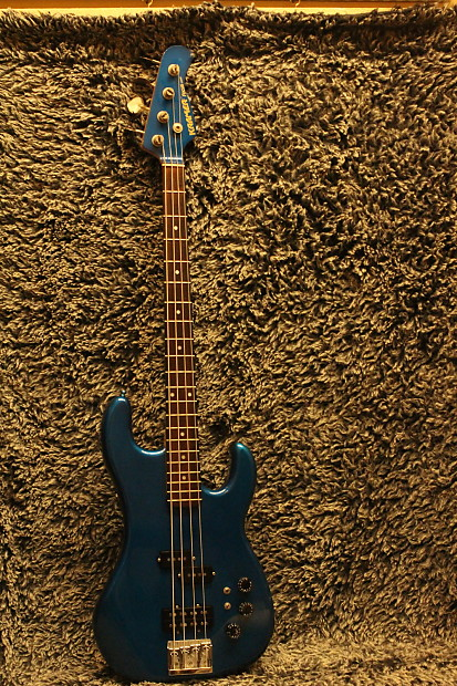 Rare 1983 Japan Kramer Focus 7000 Bass, Metallic Teal Blue, | Reverb