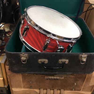 """Star 14""""x5""""  snare drum with case 1960's Fire Swirl Red"""