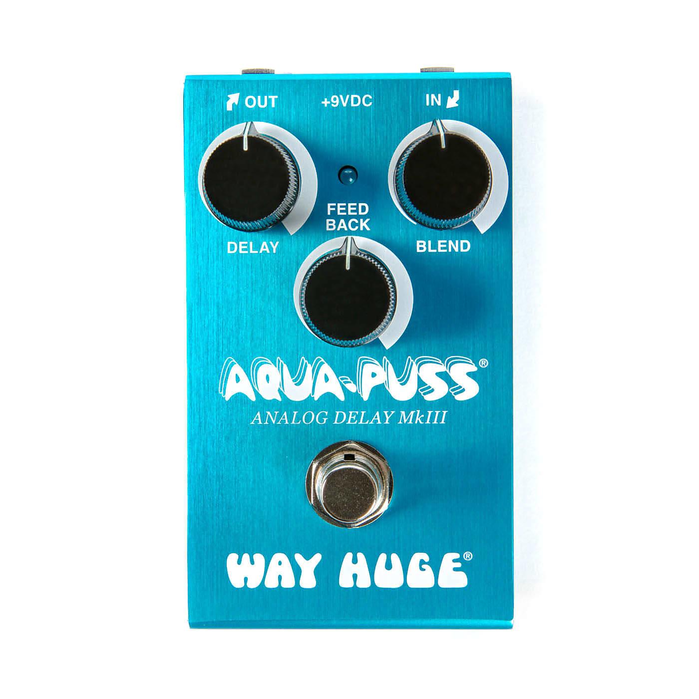 Way Huge WM71 Smalls Aqua Puss MKIII Mini Analog Delay Effects Pedal