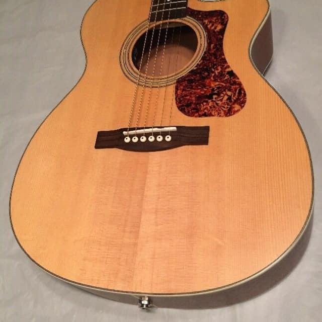 Guild OM 240CE Cutaway Acoustic-Electric Guitar w/ Heavy Duty Gigbag image