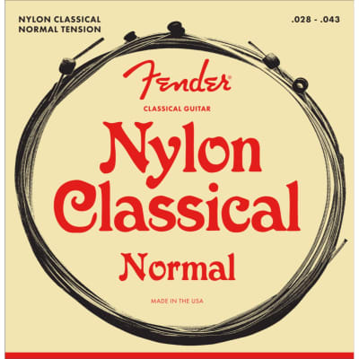 New Fender 130 Nylon Classical Guitar Strings, Ball End, Normal Tension  (0730130400)