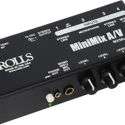 """Rolls MiniMix AV XLR, RCA,1/4"""",1/8"""" Mixer"""