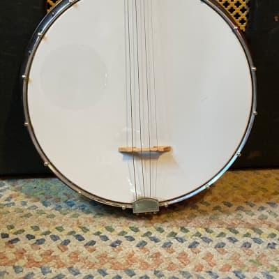 Harmony Tenor Banjo 1960s? White/Brown for sale
