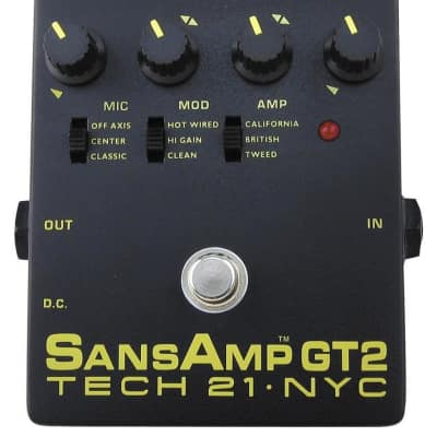 tech 21 sansamp gt2 tube amp emulation pedal reverb rh reverb com
