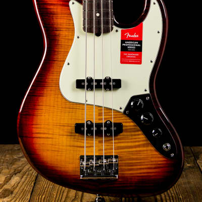 Fender Limited Edition American Professional Jazz Bass FMT Aged Cherry Burst - Free Shipping