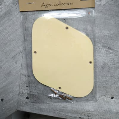 Aged Cream Electro Control Backplate for Gibson les Paul for sale