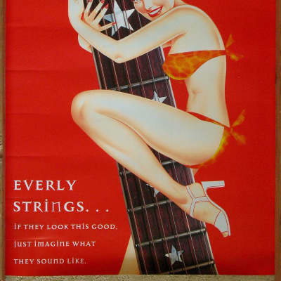 EVERLY STRINGS Poster 1990s for sale