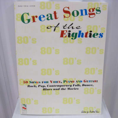Great Songs of the Eighties 80s Piano Vocal Guitar Sheet Music Song Book 1980s