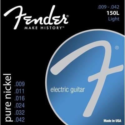 Fender Original 150L Pure Nickel Ball End Strings 9-42 for sale