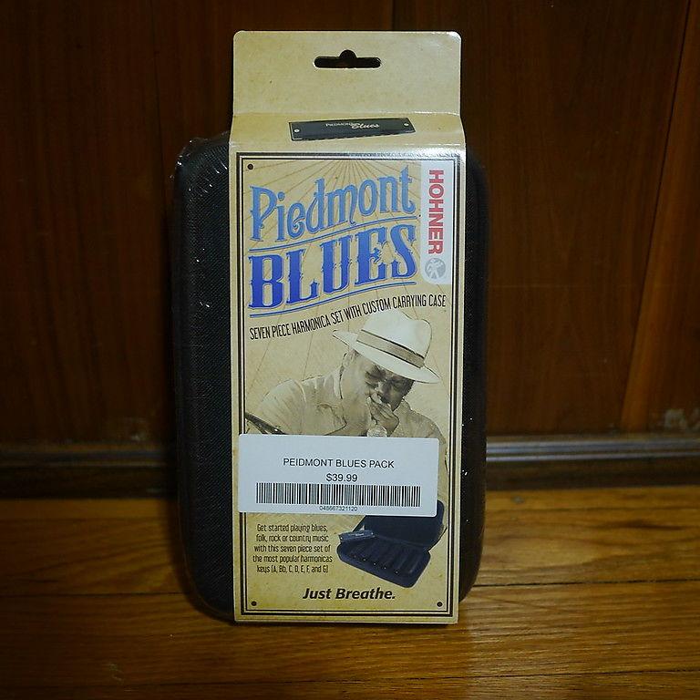 Hohner Piedmont Blues 7 Pack Harmonica Set A, Bb, C, D, E, F, G