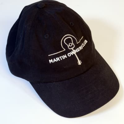 Martin Guitars Martin Owners Club Baseball Hat 2020 Black With Embroidery Design Nearly New