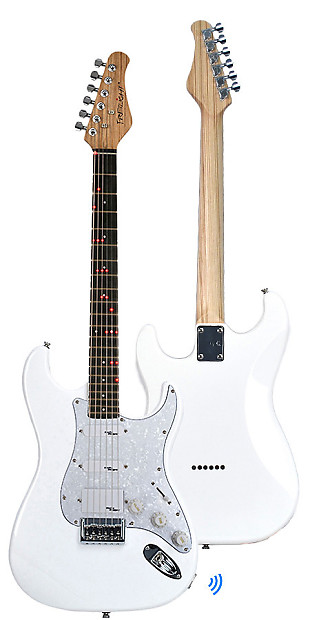 fg 621 shelby speed wireless electric guitar white white reverb. Black Bedroom Furniture Sets. Home Design Ideas