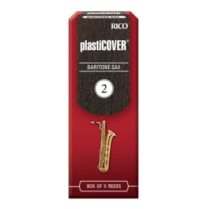 Rico RRP05BSX200 Plasticover Baritone Saxophone Reeds - Strength 2.0 (5-Pack)