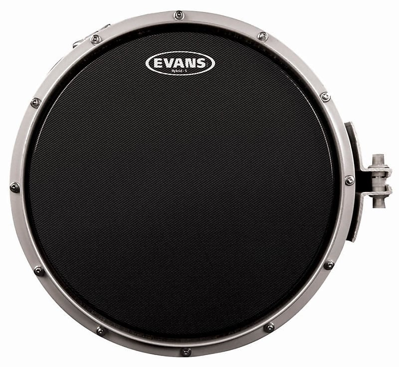 evans 14 hybrid s march snare batter drum head black reverb. Black Bedroom Furniture Sets. Home Design Ideas