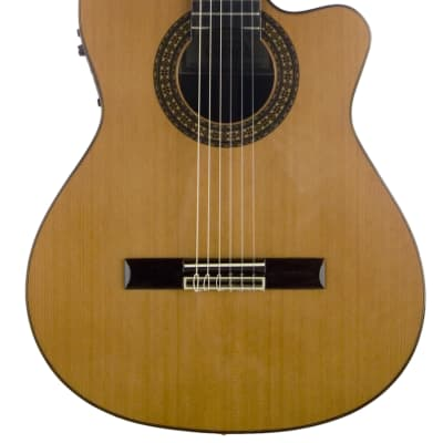 Cuenca 50 RCWE8 Cutaway classical guitar with electrification for sale