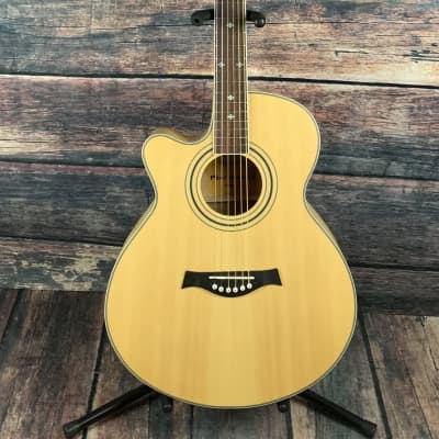 Used Giannini Left Handed GF-4 CEQ M Jumbo Acoustic Electric Guitar for sale