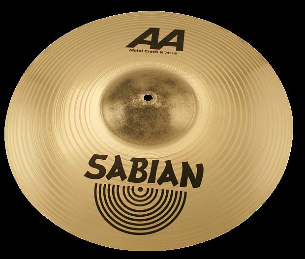 sabian 16 aa metal crash cymbal pc sound music store reverb. Black Bedroom Furniture Sets. Home Design Ideas