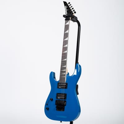 Jackson JS Series Dinky Arch Top JS32 Electric Guitar - Amaranth, Bright Blue, Left for sale