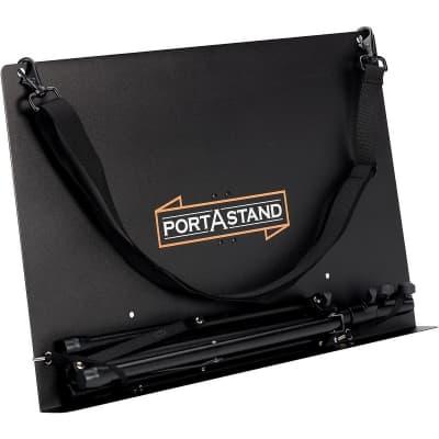 Portastand PASCOM Commoner Music Stand, Black-Steel