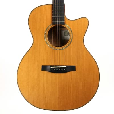 Michael Baranik SJ Steel String Acoustic Guitar CX Cedar Top/Quilted Maple - 2000 for sale