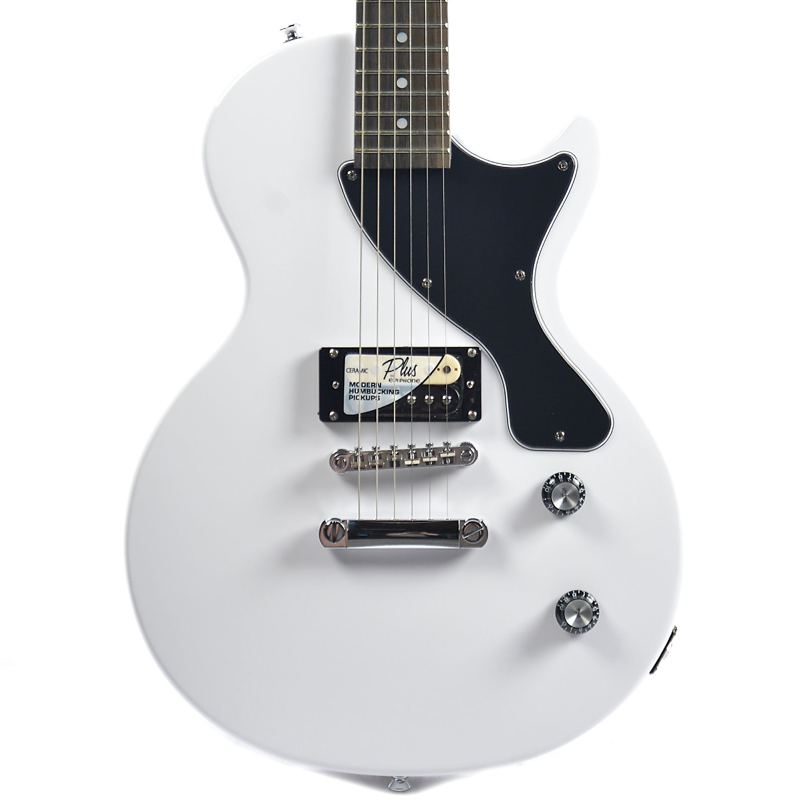 Epiphone PRO-1 Les Paul Jr  Electric Guitar Pack Alpine White w/MityPRO  Mini-Amplifier