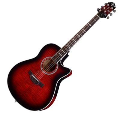 Crafter Noble Small Jumbo Flame Maple Red Sunburst Gloss 25.5