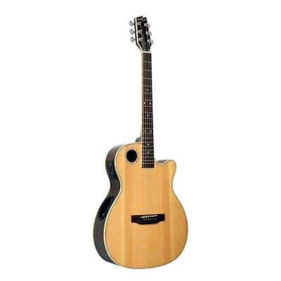 Boulder Creek ECRM2-N Acoustic/ electric Spruce Top Rosewood OM Orchestra Guitar for sale