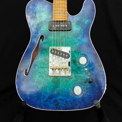 NAH Guitars Ice Telstar 2021 Green Blue Iceburst for sale