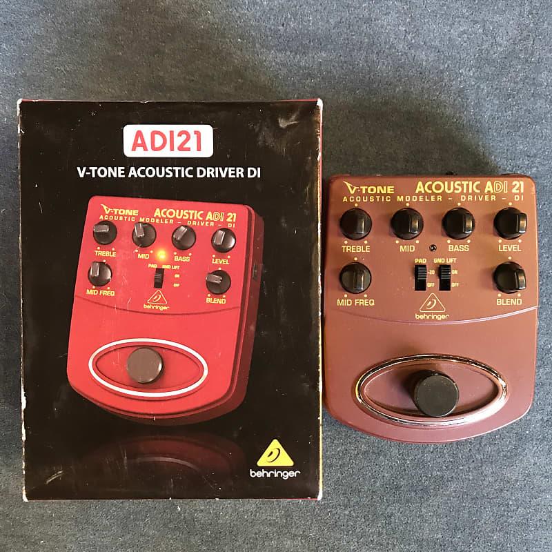 Behringer ADI21 V-Tone Acoustic Driver DI Direct Box Preamp Pedal